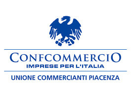 Il logo di Confcommercio Unione Commercianti Piacenza, partner myfood per allergeni e menù online
