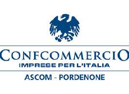 Il logo di Confcommercio Ascom Pordenone, partner myfood per allergeni e menù online