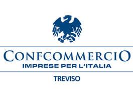 Il logo di Confcommercio Imprese per l'Italia Treviso, partner myfood per allergeni e menù online